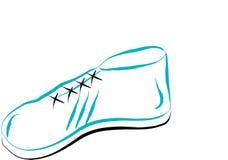 White sport shoe vector illustration