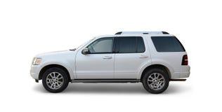 White Sport Utility vehicle  Stock Photography