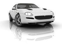 White Sportcar Royalty Free Stock Photo