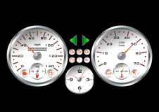 White sportif dashboard Royalty Free Stock Photo