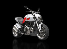 White sports bike with red details Royalty Free Stock Photos