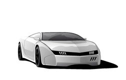White sports car Royalty Free Stock Images