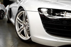 White Sports Car royalty free stock image