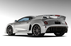 White sports car 2 Stock Images