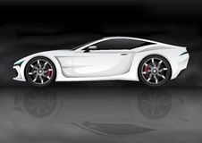 White sports car Royalty Free Stock Photos