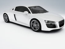 White sports car Stock Image