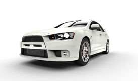White Sports Car. Front Closeup Stock Photography