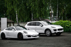 White sports car Stock Photos