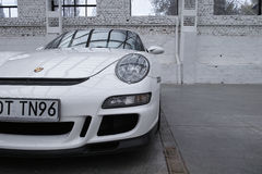 White sports car, Porsche 911 GT3 Stock Photos