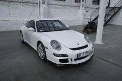 White sports car, Porsche 911 GT3 Royalty Free Stock Photography