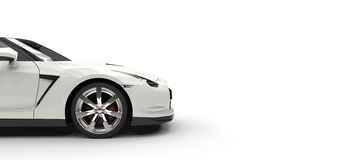 White Sports Car - Side View Stock Image