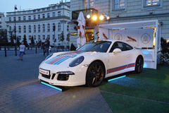 White sports cars, Porsche 911 Turbo Royalty Free Stock Photos