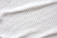 White sports clothing fabric jersey. Texture Stock Images