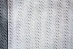 White sports clothing fabric jersey Royalty Free Stock Images