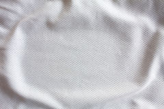 White sports clothing fabric jersey Stock Image