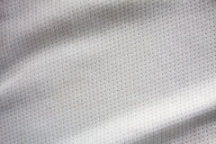 White sports clothing fabric jersey. Texture Stock Photo