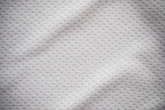 White sports jersey fabric texture. Background Royalty Free Stock Image