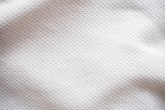 Sports jersey fabric texture background. White sports jersey fabric texture background Stock Photography