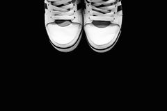The white sports shoes on a background Royalty Free Stock Photo