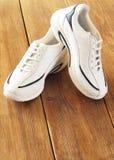 White sports shoes Stock Photos