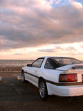 white sportscar Zdjęcie Royalty Free