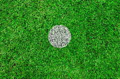 The white spot on a football pitch Stock Photos