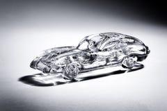 White spotlight illuminating a glass car Stock Photo