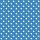 White spotted blue fabric. Royalty Free Stock Image