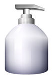 A white spray bottle Stock Photo