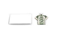 White square and 1 dollar Royalty Free Stock Photography