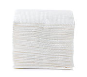 White Square Bar Napkin Stock Photography