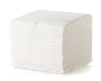 White Square Bar Napkin Royalty Free Stock Images