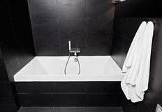 White square bathtub in modern bathroom Stock Image