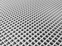 White square cellular lattice. 3d abstract architecture background. White square cellular lattice Royalty Free Stock Photo