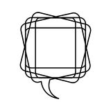 White square chat bubble icon Royalty Free Stock Image