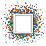 White Square Confetti Stock Photo