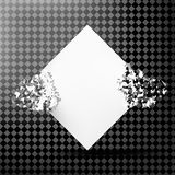 White square with debris on a transparent background. Abstract white explosion. Geometric background. Vector illustration Royalty Free Stock Photo