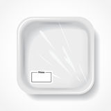 White square dish Royalty Free Stock Image