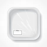 White square dish Royalty Free Stock Image