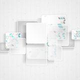 White Square Element On Stripes Background. Royalty Free Stock Photo