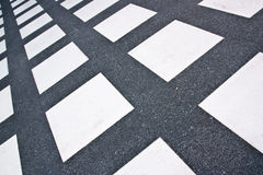 White square format floor tiles,shooting angle in obliquely. Stock Photography