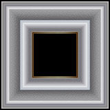 White square frame graceful ornament Stock Photography