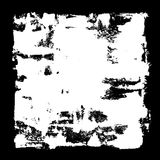 White square frame. Grunge abstract background Stock Image