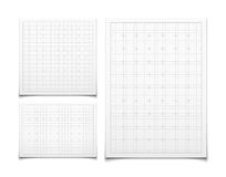 White  square grid set with shadow Stock Images