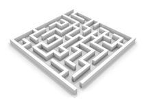 White square maze. Royalty Free Stock Photo