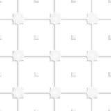 White square net tile ornament Stock Photos