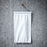 White square pennant hanging Royalty Free Stock Photo