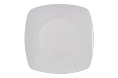 White square plate Royalty Free Stock Photos