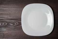 White square plate Stock Images