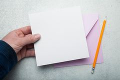 White square sheet of paper layout. Empty space for text royalty free illustration